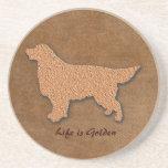 Das golden retriever-Hundeleben ist- golden Untersetzer