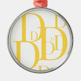Das goldene D Silbernes Ornament