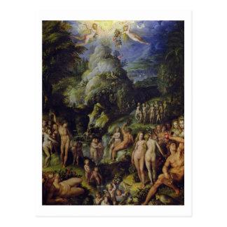 Das goldene Zeitalter, c.1570 (Öl auf Platte) Postkarte