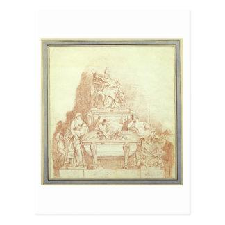 Das Grab von Papst Urban VIII (1568-1644) durch Postkarte