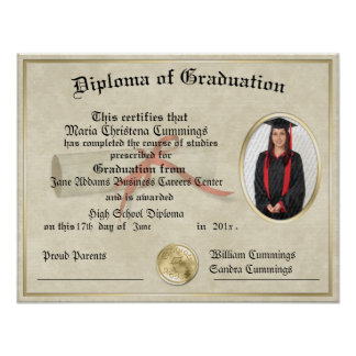 Das graduierte Geschenk-Diplom-Plakat