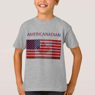 Das graue T-Stück AMERICANADIAN Kinder T-Shirt