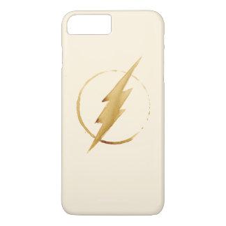 Das grelle | gelbe Kasten-Emblem iPhone 8 Plus/7 Plus Hülle