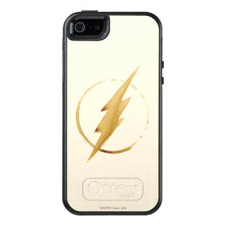 Das grelle   gelbe Kasten-Emblem OtterBox iPhone 5/5s/SE Hülle