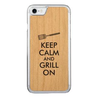 Das Grillen behalten Ruhe und Grill auf Carved iPhone 8/7 Hülle