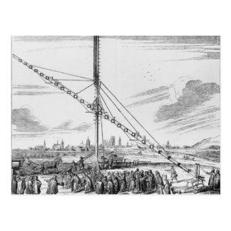 Das große astronomische Teleskop Postkarte