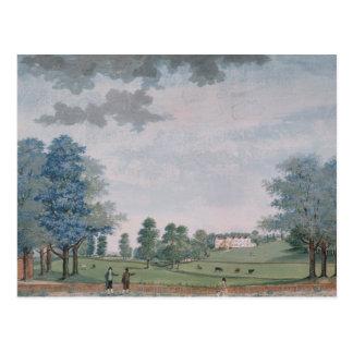 Das große Haus und der Park bei Chawton, c.1780 Postkarte