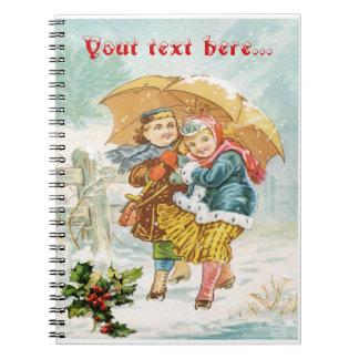 Das große Regenschirm ~ Notizbuch Spiral Notizblock