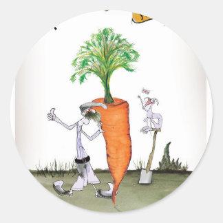 Das größte carrot Liebe-Yorkshire'Welt Runder Aufkleber