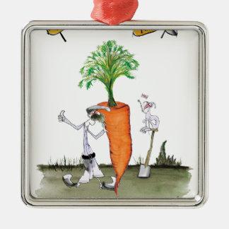 Das größte carrot Liebe-Yorkshire'Welt Silbernes Ornament