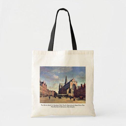 Das Grote Markt in Haarlem mit dem St. Bavochurch Einkaufstasche