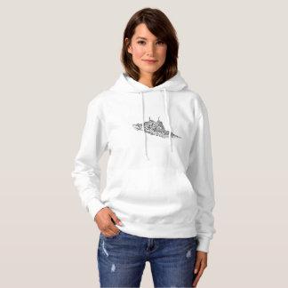 Das grundlegende mit Kapuze Sweatshirt der Frauen