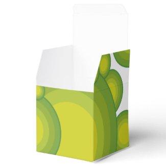 Das grüne Siebzigerjahre Jahranreden Geschenkkartons
