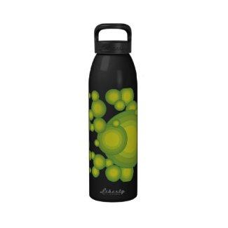 Das grüne Siebzigerjahre Jahranreden Wiederverwendbare Wasserflaschen