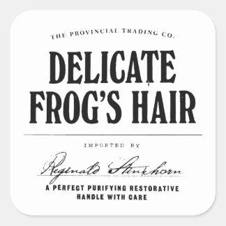 Das Haar des empfindlichen Frosches - Quadrat-Aufkleber
