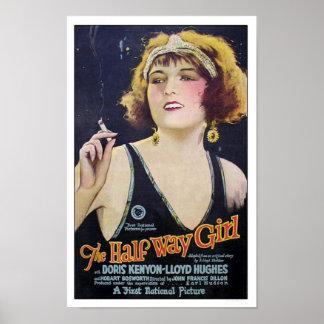 Das halbes Weisen-Mädchen-Vintage Film-Plakat Poster