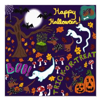Das Halloween der Diva-Dackel Karte