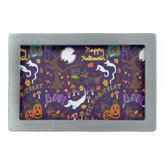 Das Halloween der Diva-Dackel Rechteckige Gürtelschnallen