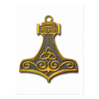 Das Hammer-Gold des Thors Postkarte