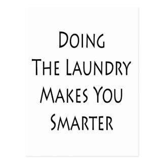 Das Handeln der Wäscherei macht Sie intelligenter Postkarte