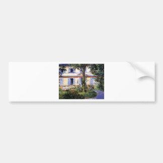 Das Haus bei Rueil durch Edouard Manet Autoaufkleber
