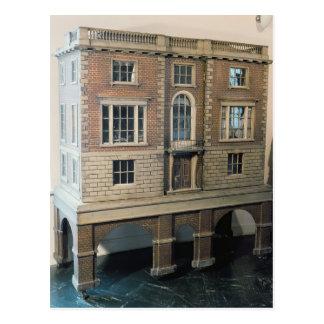 Das Haus der Englisch balustraded Puppe mit Balkon Postkarte