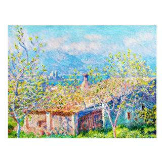 Das Haus des Gärtners in Antibes Claude Monet Postkarte