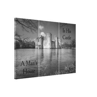 Das Haus eines Mannes ist sein Schloss Bodiam Leinwanddruck