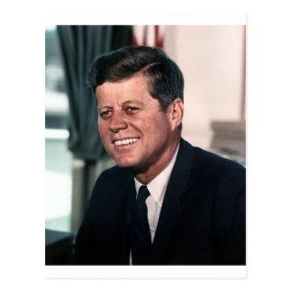 Das Haus-Farbporträt John F. Kennedy Postkarte