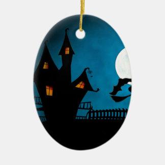 Das Haus Hexe Halloweens Helloween die Hexe Keramik Ornament