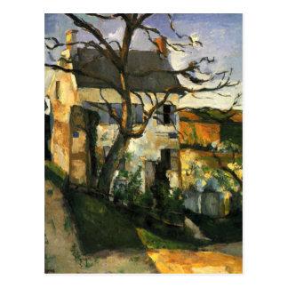 Das Haus und der Baum durch Paul Cezanne Postkarte