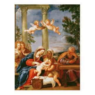 Das heilige Familien-St. Elizabeth und Johannes Postkarte