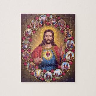 Das heilige Herz von Jesus Puzzle