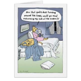 """""""Das Heirat-Bett """" Mitteilungskarte"""