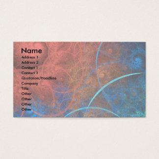 Das heiße Feuer der Verbrennungsofen-Fraktal-Kunst Visitenkarte