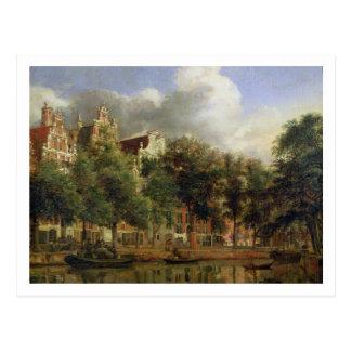 Das Herengracht, Amsterdam (Öl auf Platte) Postkarte