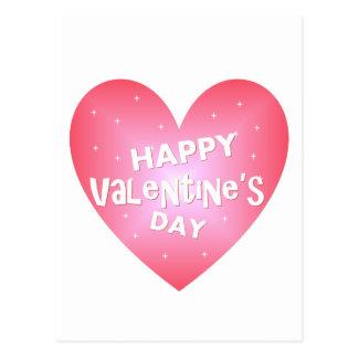 Das Herz des glücklichen Valentinsgrußes Postkarte