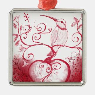 Das Herz des Kolibris Silbernes Ornament