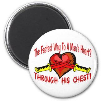 Das Herz des Mannes Runder Magnet 5,7 Cm