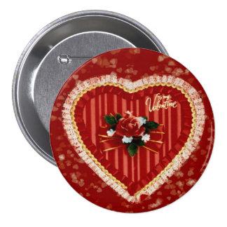 Das Herz-Knopf des Valentinsgrußes Buttons