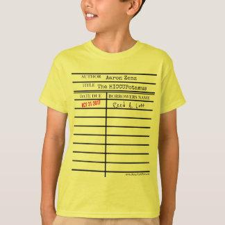 """""""Das HICCUPatamus"""" Bibliotheksausweis - fertigen T-Shirt"""