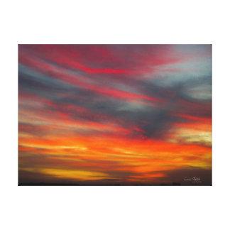 Das Himmel-Set in Flammen Leinwanddruck