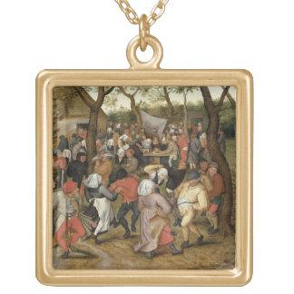 Das Hochzeits-Fest Halskette Mit Quadratischem Anhänger