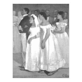 Das Hochzeits-Party Postkarte