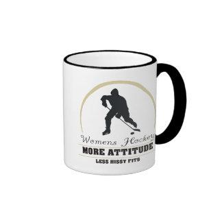 Das Hockey der lustigen Frauen mehr Haltung Ringer Tasse