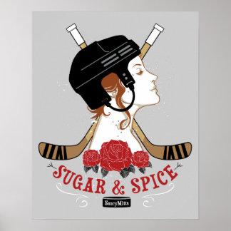 Das Hockey der Zucker-und Gewürz-Frauen Poster