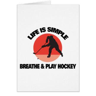 Das Hockey-Leben ist einfach Karte