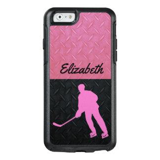 Das Hockey-Namen-Fall der Rosa-und Schwarz-starken OtterBox iPhone 6/6s Hülle