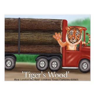Das Holz des Tigers, das lustige Geschenke u. 10,8 X 14 Cm Einladungskarte