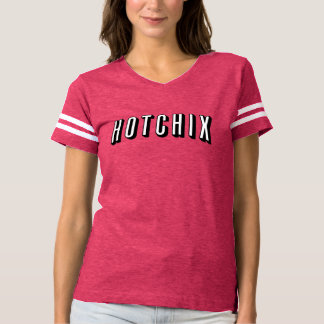 """""""Das HOTCHIX"""" der Frauen Fußball-T - Shirt (Rosa)"""